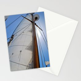 Raising the Jib III Stationery Cards
