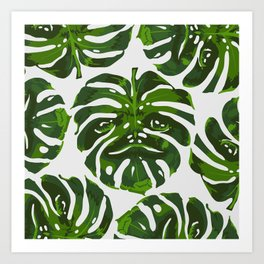 Monstera Sloth Art Print