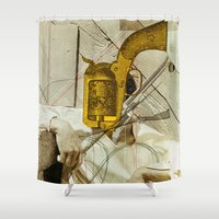 dale cooper Shower Curtains featuring Gary Cooper by Marko Köppe