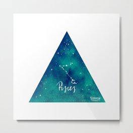 Pisces - Astrology Mixed Media Metal Print