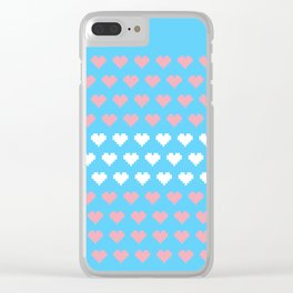 Pixel Pride - Transgender Clear iPhone Case