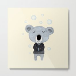 koala bubbles Metal Print