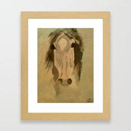 Horse head art Framed Art Print