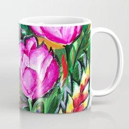 Etude with Tropical Flowers Coffee Mug