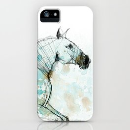Horse (Lusitano Blue) iPhone Case
