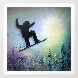 The Snowboarder: Air Art Print