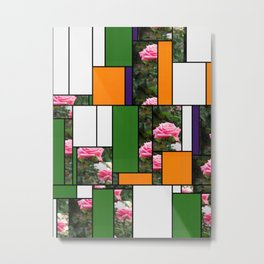 Pink Roses in Anzures 5  Art Rectangles 5 Metal Print