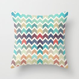 Watercolor Chevron Pattern Throw Pillow