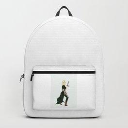Girl with guns fantasy comic art - Girl Power Backpack