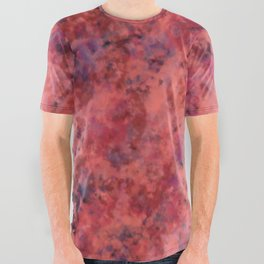 Coral Clouds All Over Graphic Tee