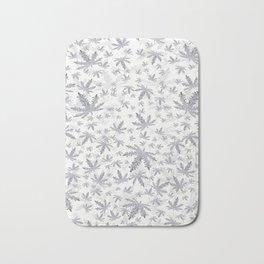 CannaBlizzard in White Bath Mat