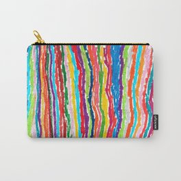 Coloured crayon stripes Carry-All Pouch