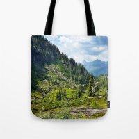 washington Tote Bags featuring Washington by amberino