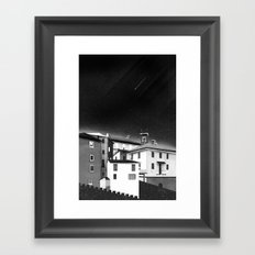 Castles at Night (B&W) Framed Art Print