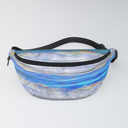 Abstract beautiful ocean waves Fanny Pack