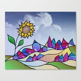 my little village and its sun -4- Canvas Print