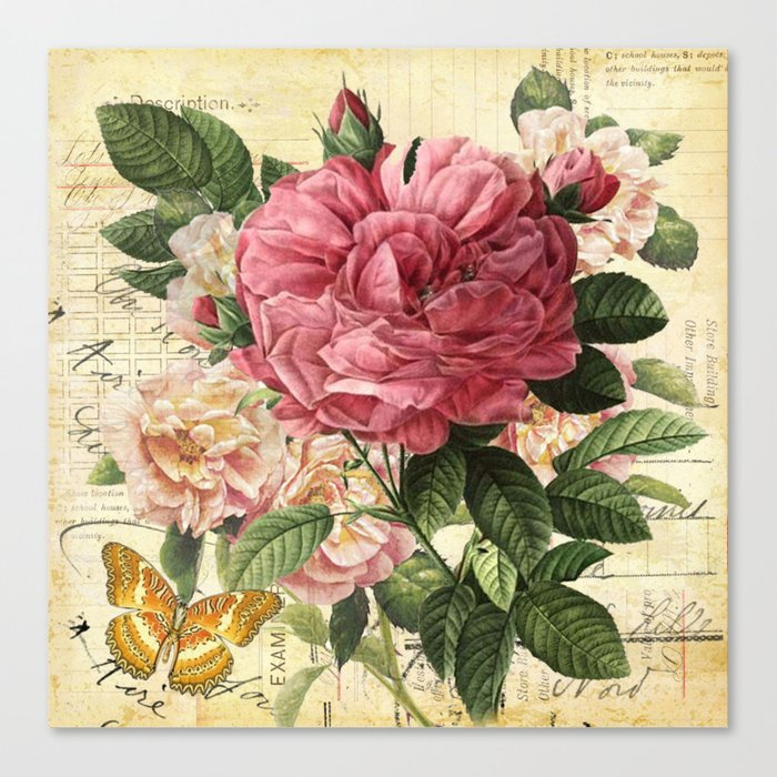 Vintage flowers #28 Canvas Print