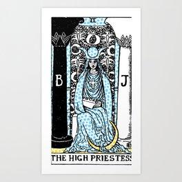 Modern Tarot - 2 The High Priestess Art Print
