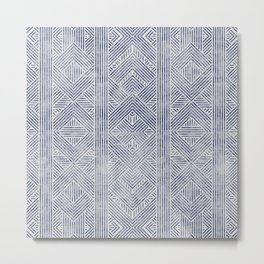 AMAI GEO DENIM Metal Print