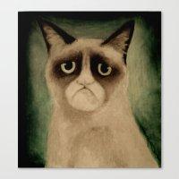 grumpy Canvas Prints featuring Grumpy! by Colunga-Art