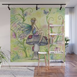 A Happy Place Flower Fairy Fantasy Art by Molly Harrison Wall Mural