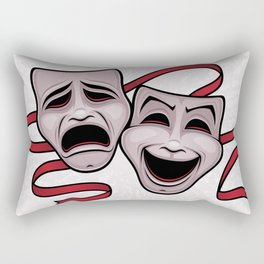 Comedy And Tragedy Theater Masks Rectangular Pillow