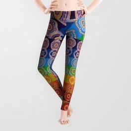 7 CHAKRA SYMBOLS OF HEALING ART #2 Leggings