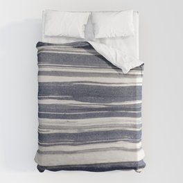 Brush stroke stripes Duvet Cover