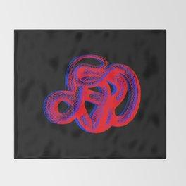 Snek 2 Snake Red Blue Throw Blanket