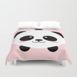 Lovely kawai panda bear Duvet Cover