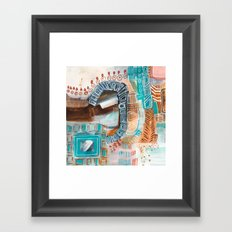 Poolside at the Ace Palm Springs Framed Art Print