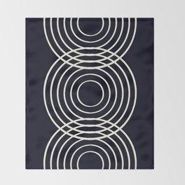 Life Balance Black Throw Blanket