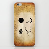 marauders iPhone & iPod Skins featuring The Marauders - Moony, Wormtail, Padfoot and Prongs by Renatta Maniski-Luke