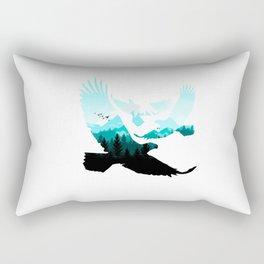 eagle three silhoutte Rectangular Pillow