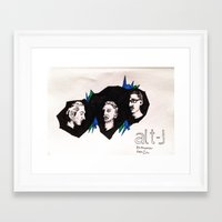 alt j Framed Art Prints featuring Alt-J by Nic Zuhse