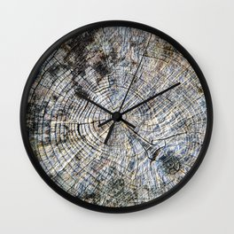 Old Tree Rings Wall Clock
