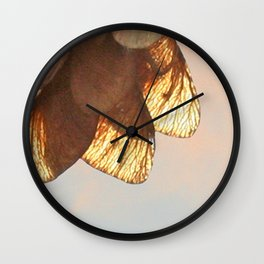 Cluster of lightened leaves Wall Clock
