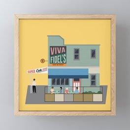 Fidel's Cafe, Cuba Street, Wellington, NZ Framed Mini Art Print