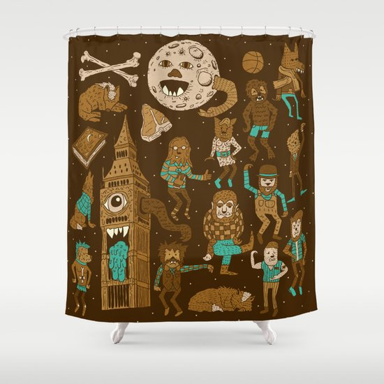 Wow! Werewolves!  Shower Curtain