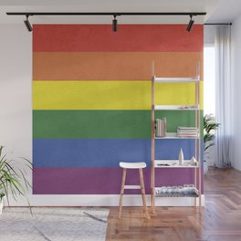 Rainbow stripes Wall Mural