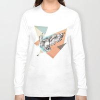 mcfly Long Sleeve T-shirts featuring Owl McFly by carographic by carographic portrait paintings