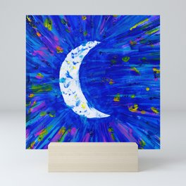 Glitter Crescent Moon Phase Mini Art Print