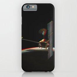 Odyssey over Martian Sunrise, 3-D Artist Concept. Original from NASA. iPhone Case