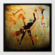 flame dancer Canvas Print