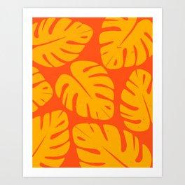 Monstera Leaf Print 1 Art Print