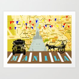 Locals Only - Manila Art Print