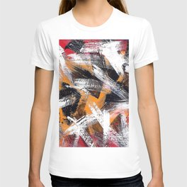 Abs orange black and white T-shirt