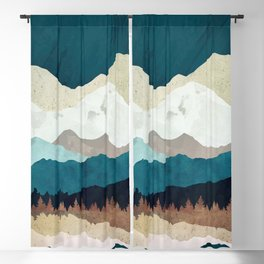 Fall Forest Night Blackout Curtain