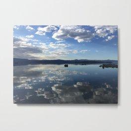 Mono Lake Clouds Metal Print