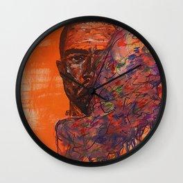 Frankie oceans,colourful,colorful,poster,wall art,fan art,music,hiphop,rap,rnb,soul,legend,shirt Wall Clock